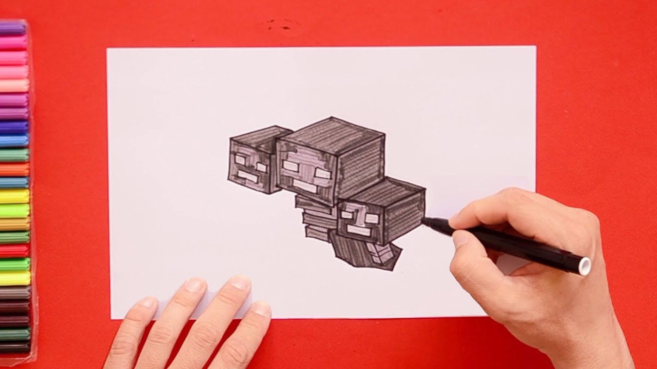 How To Draw Wither Minecraft Youtube