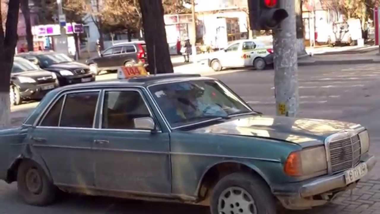 O rablă ca taxi reprezentativ pentru Chișinău