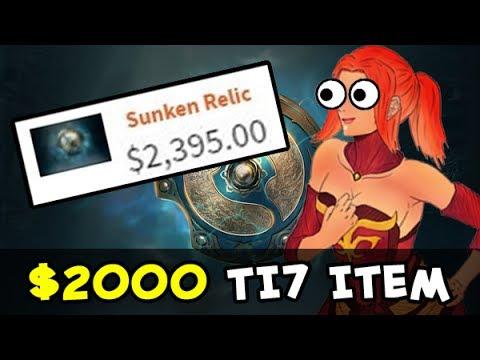 Most expensive TI7 Compendium $2,000 item — Sunken Relic