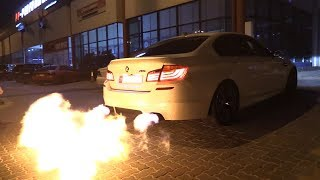 BMW M5 F10 w/ Akrapovic PP Performance - The BIGGEST M5 Flames EVER!