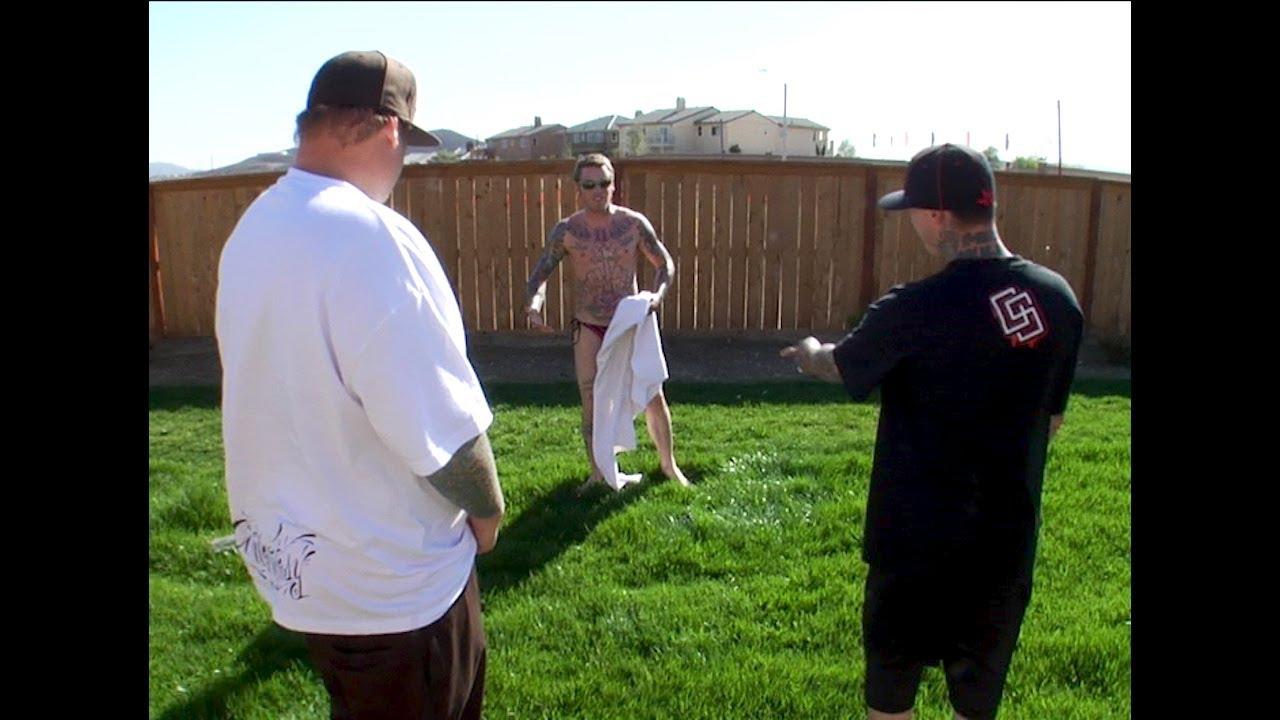 friends bust friend tanning in backyard youtube