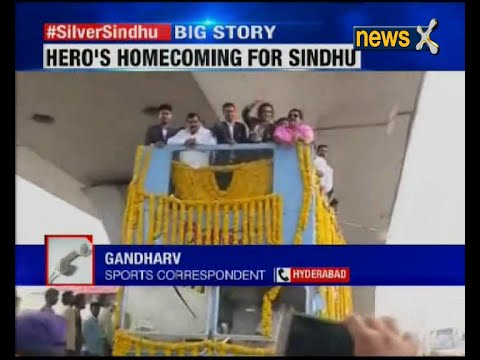 Hyderabad: Crowds cheer for 'Silver Sindhu'