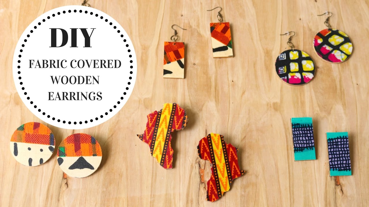 DIY Fabric Covered Wooden Earrings Tutorial - YouTube