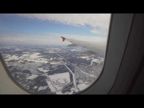 Russia, Moscow, landing with Aeroflot at Sheremetyevo International Airport