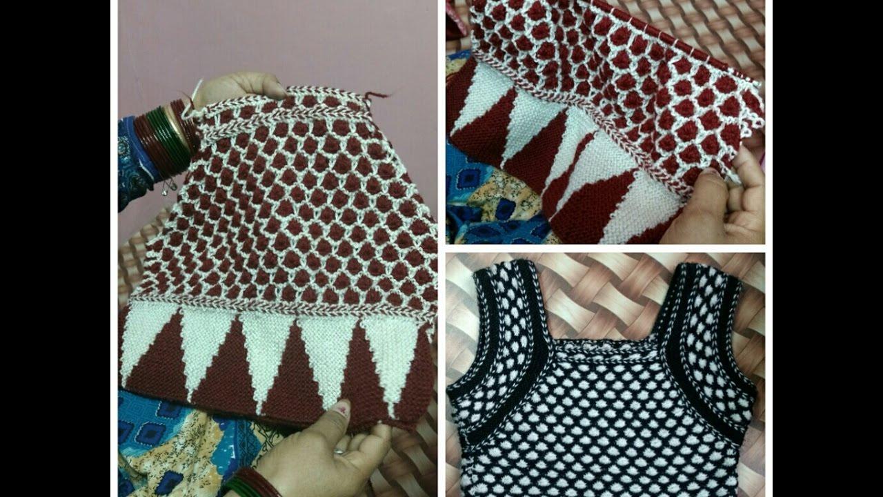Knitting Blouse For Ladies In Hindi Half Sleeves Designer Sweater