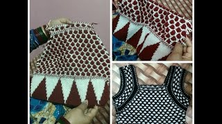 Knitting Blouse for Ladies in Hindi -Half sleeves designer sweater | how to knit woolen blouse part4