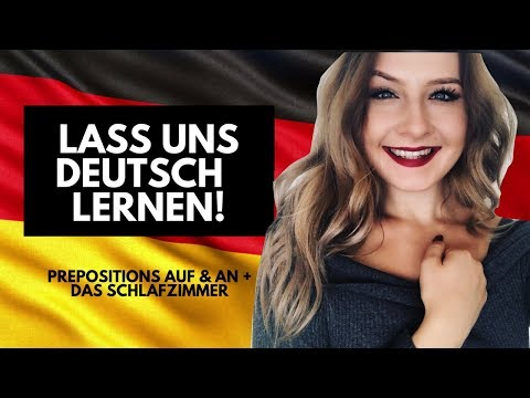 PRACTICE GERMAN WITH ME 🇩🇪 PREPOSITIONS + BEDROOM TOUR