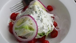 Blue Cheese Dressing - How To Make The Best Creamy Blue Cheese Dressing