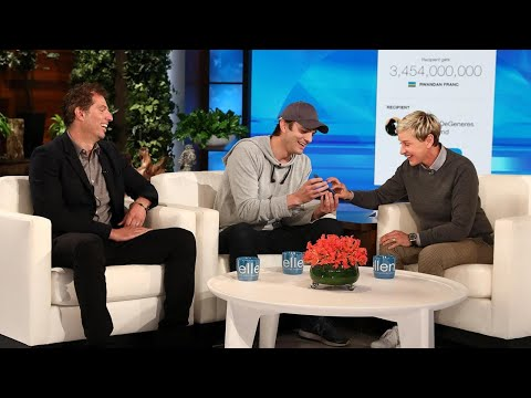 Ashton Kutcher Brings Ellen DeGeneres to Tears With Kind Surprise