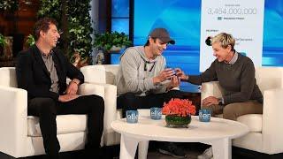 Ashton Kutcher Brings Ellen DeGeneres to Tears With Kind Surprise