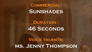 Jenny Thompson voice actor - Sunshades commercial