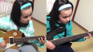 Audrey Plays Bass + Guitar Bring Me to Life- Evanescence (ロックス...