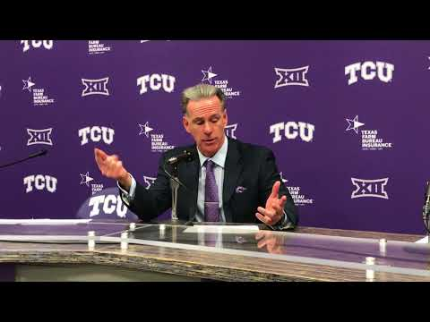 TCU men's basketball coach Jamie Dixon after the Horned Frogs beat Oklahoma State