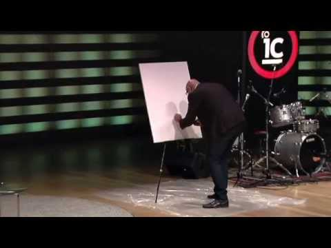 Mind-blowing Speed Painting Prediction By mentalist Haim Goldenberg - IdeaCity14