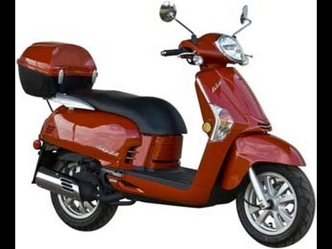 kymco like 50 2t red 49cc scooter youtube. Black Bedroom Furniture Sets. Home Design Ideas