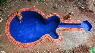Build swimming pool underground model guitar