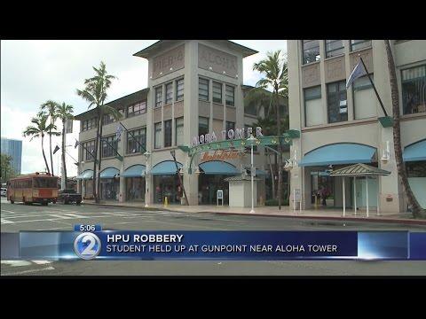 HPU student robbed at gunpoint at Aloha Tower bus stop