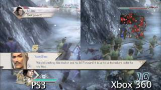 Dinasty Warriors 6 comparison - PS3/X360