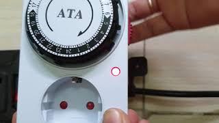 Ổ cắm hẹn giờ cơ ATA 24A - hẹn giờ tắt mở tư động thiết bị điện