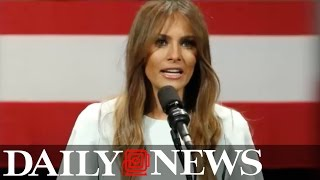 melania trump gives first ever stump speech at milwaukee rally