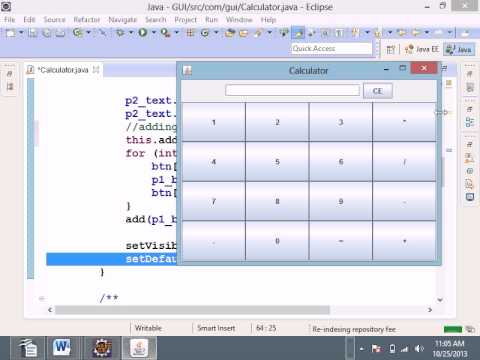 Java JFrame Calculator example - YouTube