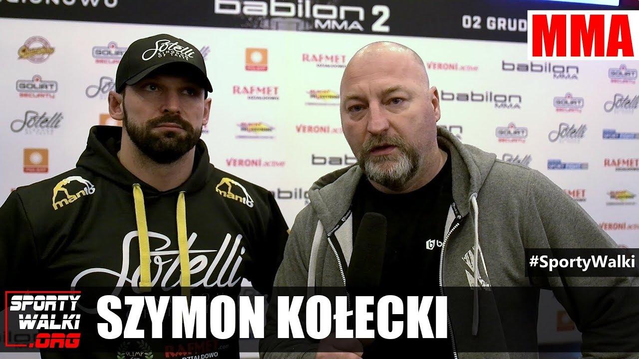 BABILON MMA2: Szymon Kołecki: Konieczna będzie zmiana taktyki