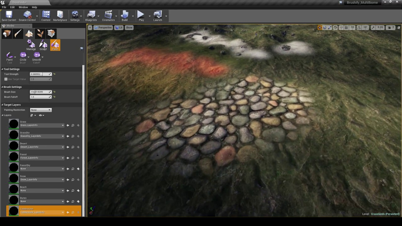 Brushify - How to add a new Landscape Material