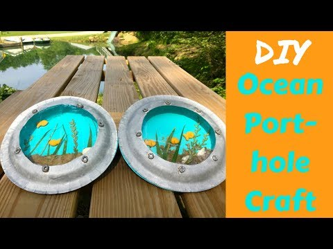 DIY Porthole - Goldfish craft!
