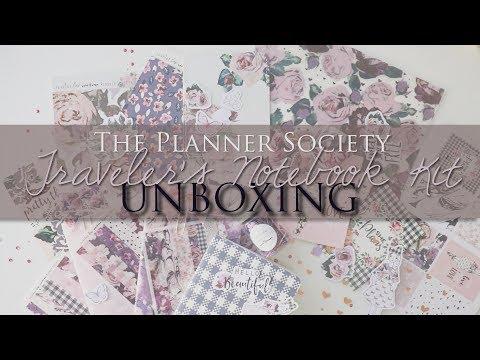 Traveler's Notebook Kit UNBOXING // The Planner Society