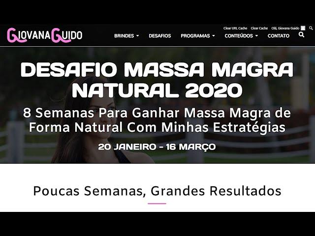 DESAFIO MASSA MAGRA NATURAL 2020 - Inscrições abertas! Especial Ano Novo! ♥