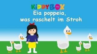 Eia poppeia, was raschelt im Stroh - Kinderlieder zum Mitsingen - (KIDDYBOX.TV) Karaoke Lyric