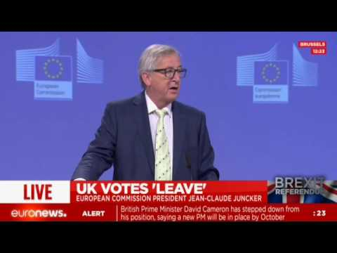 European Commission President Jean-Claude Juncker press conference after Brexit vote