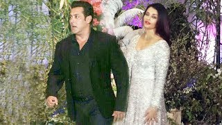 Salman Khan And Aishwarya Rai At Sonam Kapoor's Wedding Reception