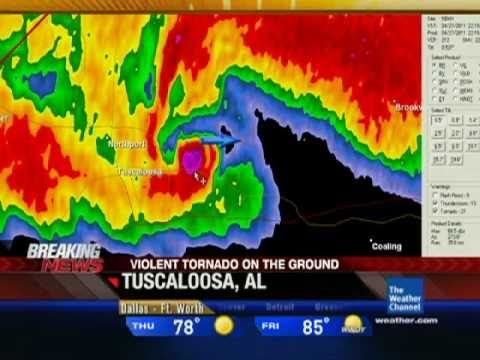 The Weather Channel Coverage of the Tuscaloosa, AL Tornado