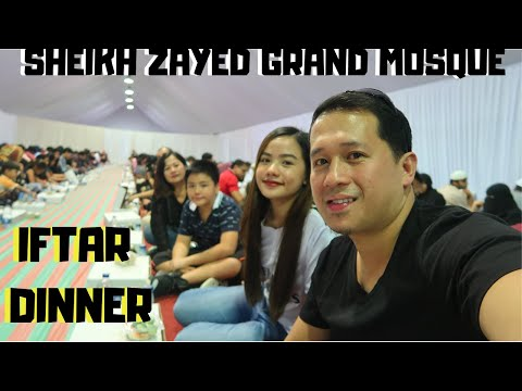 TRYING OUT UAE'S BIGGEST IFTAR IN SHEIKH ZAYED GRAND MOSQUE ABU DHABI | 2019 VLOG