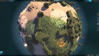 Planetary Annihilation 4v4 Team Armies - Temple battle