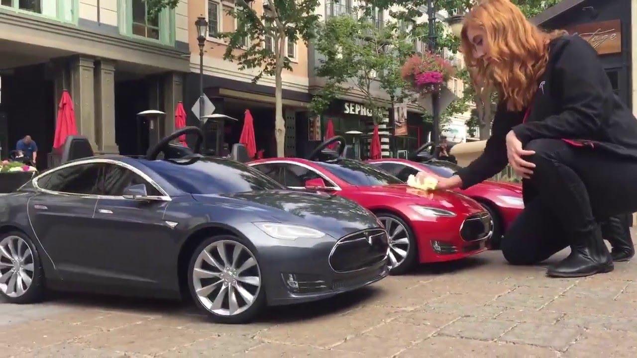 Tesla Offering Mini Model S Test Drives For Kids Of Radio Flyer