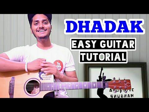 Dhadak - title track easy guitar chord lesson, Dhadak guitar tutorial, Shreya ghoshal