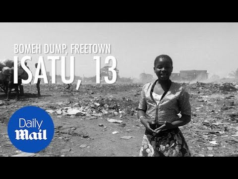 Isatu revisits Freetown's notorious Bomeh Dump in Sierra Leone - Daily Mail