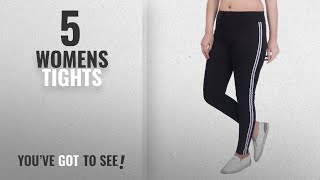 Top 10 Womens Tights [2018]: Blinkin yoga gym and active sports fitness Black Stribes Leggings