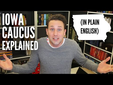 Iowa Caucus explained in plain English