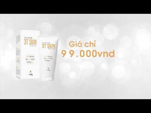 Combo 2 Sữa rửa mặt thiên nhiên 3T Skin sạch dịu nhẹ, da sáng mịn, dưỡng ẩm (50gr)