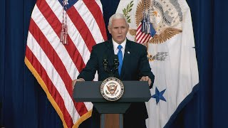 Vice President Pence Participates in a Naturalization Ceremony