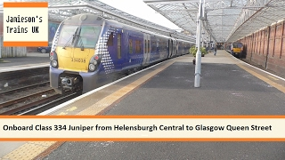 onboard class 334 juniper from helensburgh central to glasgow queen street
