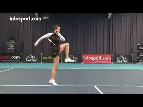 tennis warm up hip dynamic flex  youtube