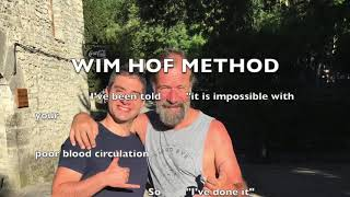 Practice of the Wim Hof Method. Extreme test in cold. Ice Ice baby!