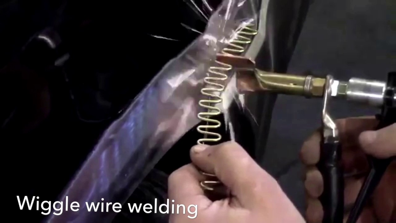 How to fix dents on car Spotter Pilot type 2 panel repair dent puller  wiggle wire welding I-car dent