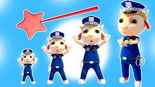 No No, Don't Tease Policeman Johny! Baby Shark & Kids Pretend Play Zombies + Nursery Rhymes & Songs