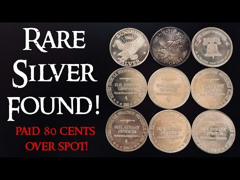 Rare Silver Rounds Found! - Only Paid 80 Cents Over Spot!