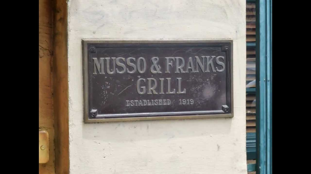 Musso and frank grill hollywood youtube - Musso and frank grill hollywood ...